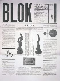 "The cover of the first issue the ""Blok"" magazine, designed by Henryk Stażewski, Warsaw 1924, 60 x 45 cm, photo: courtesy of Muzeum Sztuki in Łódź"