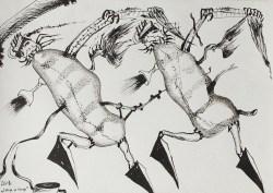 """""""Trop w trop"""" 1981, tusz, karton; 51x73 cm, fot. dzięki uprzejmości Galerii aTAK"""