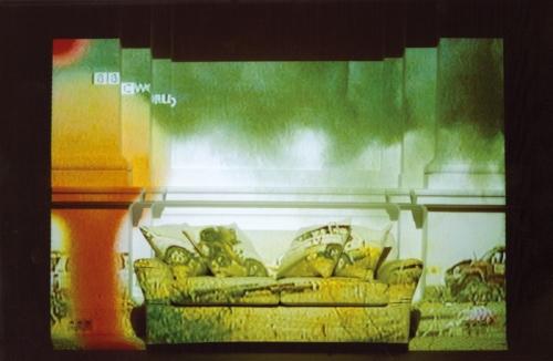 TV Room / Salon telewizyjny, interactive video installation, Little Salon, Zachęta – National Gallery of Art, 2004