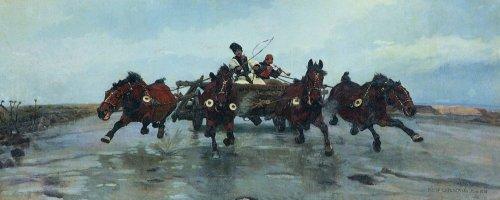 """Józef Chełmoński, """"Czwórka"""" 1881, olej na płótnie, dzięki uprzejmości Muzeum Narodowemu w Krakowie"""