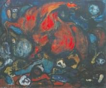 Pożoga 1951 olej, płótno, 159x197 cm w zbiorach Muzeum Narodowego we Wrocławiu fot. pracownia fotograficzna