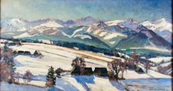 Marzec w Tatrach 1930, olej na płótnie dzięki uprzejmości Muzeum Narodowemu w Krakowie