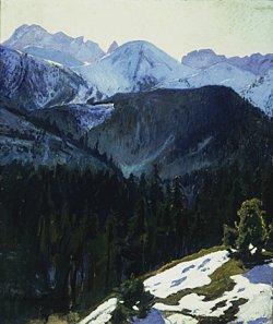 Widok tatrzański 1904, olej na płótnie foto T. Żółtowska-Huszcza w zbirach Muzeum Narodowego w Warszawie