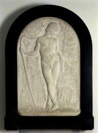 Narcyz ok. 1901, marmur, 75x79 własność Muzeum Narodowego w Warszawie fot. T. Żóhowska-Huszcza