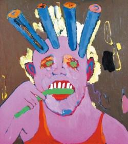 Być albo nie być 1998; olej, płótno; 100x89,5 cm; fot. dzięki uprzejmości Galerii aTAK