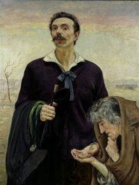 Autoportret z wróżką 1920, olej na płótnie, fot. P. Ligier własność Muzeum Narodowego w Warszawie