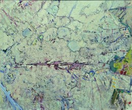Pejzaż 1943 - Czerwony ślad (1964-1965) olej, płótno, 139x165 cm w zbiorach Muzeum Narodowego we Wrocławiu