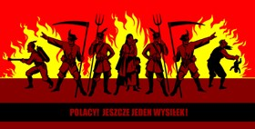 Polacy! Jeszcze jeden wysiłek! mural, 2004, 950x400 cm