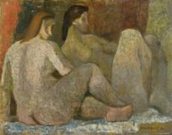 Akty (1955) olej, płótno, 50x65 cm w zbiorach Muzeum Narodowego we Wrocławiu fot. Arkadiusz Podstawka