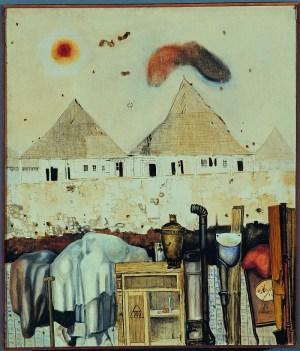 Niebelungenlid II (1963) olej, płótno, 90x77,5 cm w zbiorach Muzeum Narodowego we Wrocławiu fot. pracownia fotograficzna MNWr