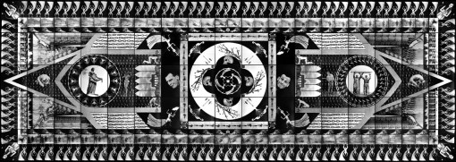 Zofia Kulik Wszystkie pociski są jednym pociskiem / All Shells are One Shell 1993, 304x855 cm, photo: courtesy of the artist