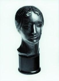 Głowa Dziewczyny (A Girl's Head) 1921, wood, 45 cm