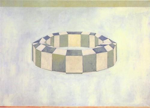 Ćwiczenia z perspektywy wg Ucella 1990, 130x180 cm, dzięki uprzejmości Galerii Le Guern