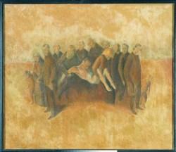 Pogrzeb (1918-1923) olej, płótno, 83x97 cm w zbiorach Muzeum Narodowego we Wrocławiu fot. Arkadiusz Podstawka