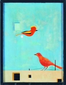 Ptak uwięziony (1957) olej, deska, 52x40 w zbiorach Muzeum Narodowego we Wrocławiu fot. pracownia fotograficzna MNWr