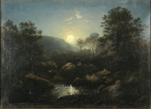 Moon Landscape, around 1870, oil on canvas, photo: Tomasz Szemalikowski, by courtesy of Upper Silesia Museum in Bytom