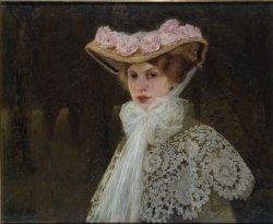 """Edward Okuń, """"Portret żony"""", 1907, olej, płótno w zbiorach Muzeum Narodowego w Warszawie"""