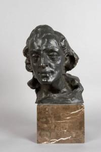 Głowa Fryderyka Chopina dzięki uprzejmości Muzeum Narodowemu w Krakowie