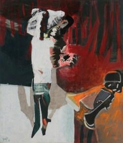 Szalona śpiewaczka 1988 olej, płótno; 151x130,5 cm fot. dzięki uprzejmości Galerii Atak