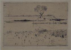 Kanał Piński 1899, sucha igła, papier żeberkowy w zbiorach Muzeum Narodowego w Warszawie