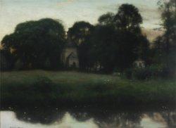 Park w Duboju 1897, olej na płótnie w zbiorach Muzeum Narodowego w Warszawie