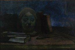 """Władysław Ślewiński, """"Maska i książki"""", ok. 1897, foto T. Żółtowska-Huszcza, w zbiorach Muzeum Narodowego w Warszawie"""