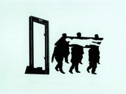 Drzwi polskie II 1982 linoryt, papier; 48x70 cm w zbiorach Muzeum Narodowego we Wrocławiu fot. pracownia fotograficzna MNWr