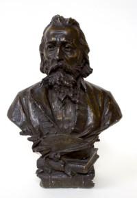 Jan Matejko 1893, brąz polichromowany dzięki uprzejmości Muzeum Narodowemu w Krakowie