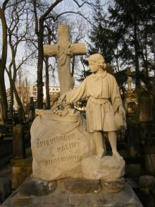 Nagrobek Ignacego Komorowskiego na Cmentarzu Powązkowskim w Warszawie, kamień, ok. 1857, fot. Paweł Freus
