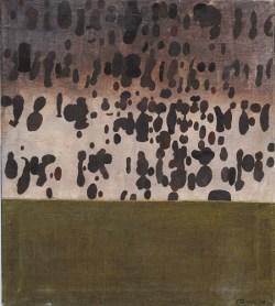 """Jan Tarasin, """"Deszcz"""" 1970,  olej, płótno; 73 x 65 cm,  fot. dzięki uprzejmości Galerii aTAK, prace z kolekcji Krzysztofa Musiała"""
