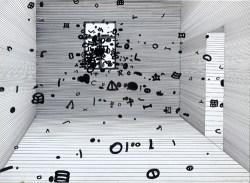 """""""Okno"""" 1980, tusz, papier; 49x69 cm fot. dzięki uprzejmości Galerii aTAK"""