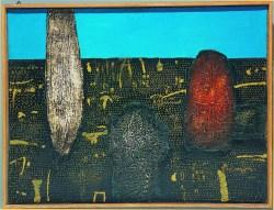 """""""Przedmioty"""" 1967, olej, płótno; 75x100 cm, w zbiorach Muzeum Narodowego we Wrocławiu"""