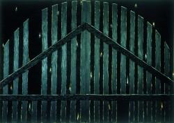Brama Caspara Davida Friedricha 1985 olej, wosk na płótnie