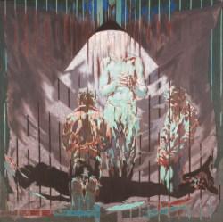 Po obu stronach brama - Wielka Sobota z cyklu Pieta w trójnasób (1983) olej, płótno, 100x81 cm w zbiorach Muzeum Narodowego we Wrocławiu fot. Arkadiusz Podstawka