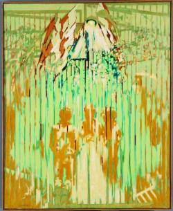 Po obu stronach brama - Sierpniowa Niedziela (1981-1983) olej, płótno, 100x81 cm w zbiorach Muzeum Narodowego we Wrocławiu fot. pracownia fotograficzna MNWr