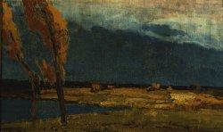 Burza idzie ok. 1920, olej na płótnie fot. T. Żółtowska-Huszcza w zbiorach Muzeum Narodowego w Warszawie