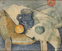 Martwa natura z goździkiem (1912-1913) olej, płótno, 46x55 cm w zbiorach Muzeum Narodowego we Wrocławiu fot. Arkadiusz Podstawka