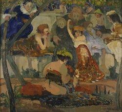 Chrystus i dzieci 1908, olej na płótnie w zbiorach Muzeum Narodowego w Warszawie