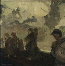 Krucjata dziecięca 1905, olej na płótnie w zbiorach Muzeum Narodowego w Warszawie