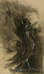 Ostatnia struna ok. 1903, papier, węgiel, kreda fot. Piotr Ligier w zbiorach Muzeum Narodowego w Warszawie