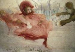 Podmuchy wiosenne 1905, akwarela, płótno, fot. T. Żółtowska-Huszcza w zbiorach Muzeum Narodowego w Warszawie