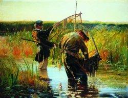 Rybacy brodzący po wodzie 1891, olej na płótnie w zbiorach Muzeum Narodowego w Warszawie