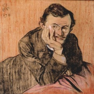 """""""Portret Lucjana Rydla"""", 1898, pastel; dzięki uprzejmości Muzeum Okręgowego im. Leona Wyczółkowskiego w Bydgoszczy"""
