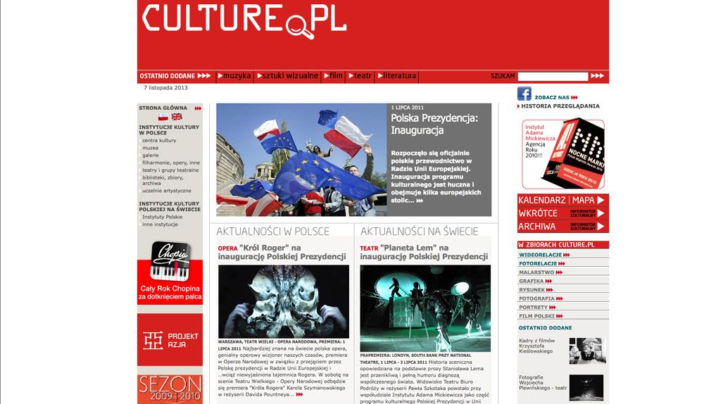 Culture.pl, 2009