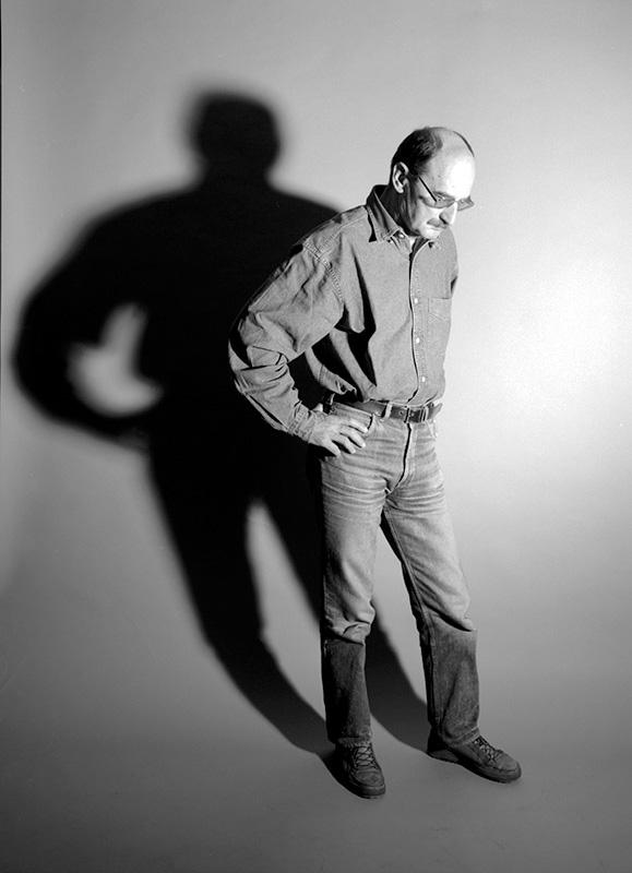 Sławomir Mrożek, Sztokholm, październik 1992, fot. Woody Ochnio / Forum