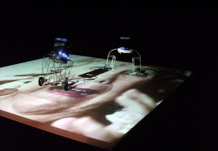 "Karl Heinz Jeron, ""Hermes"", performance, fot. fot. Biennale Sztuki Mediów"