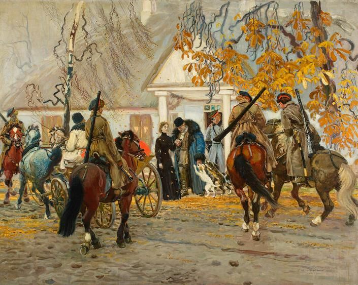 «Арест повстанца», Станислав Масловский, масло на холсте, 1910, фото: Национальный музей в Варшаве