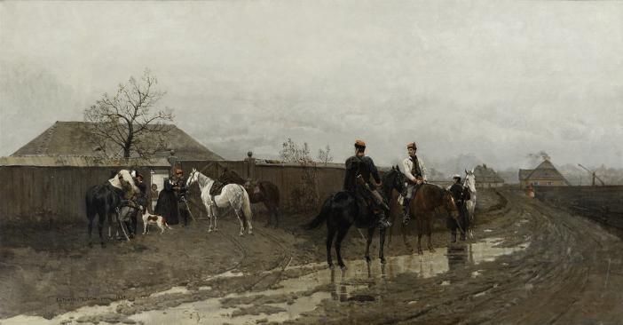 «Сцена из восстания 1863 года», Антоний Пётровский, фото Ossolineum