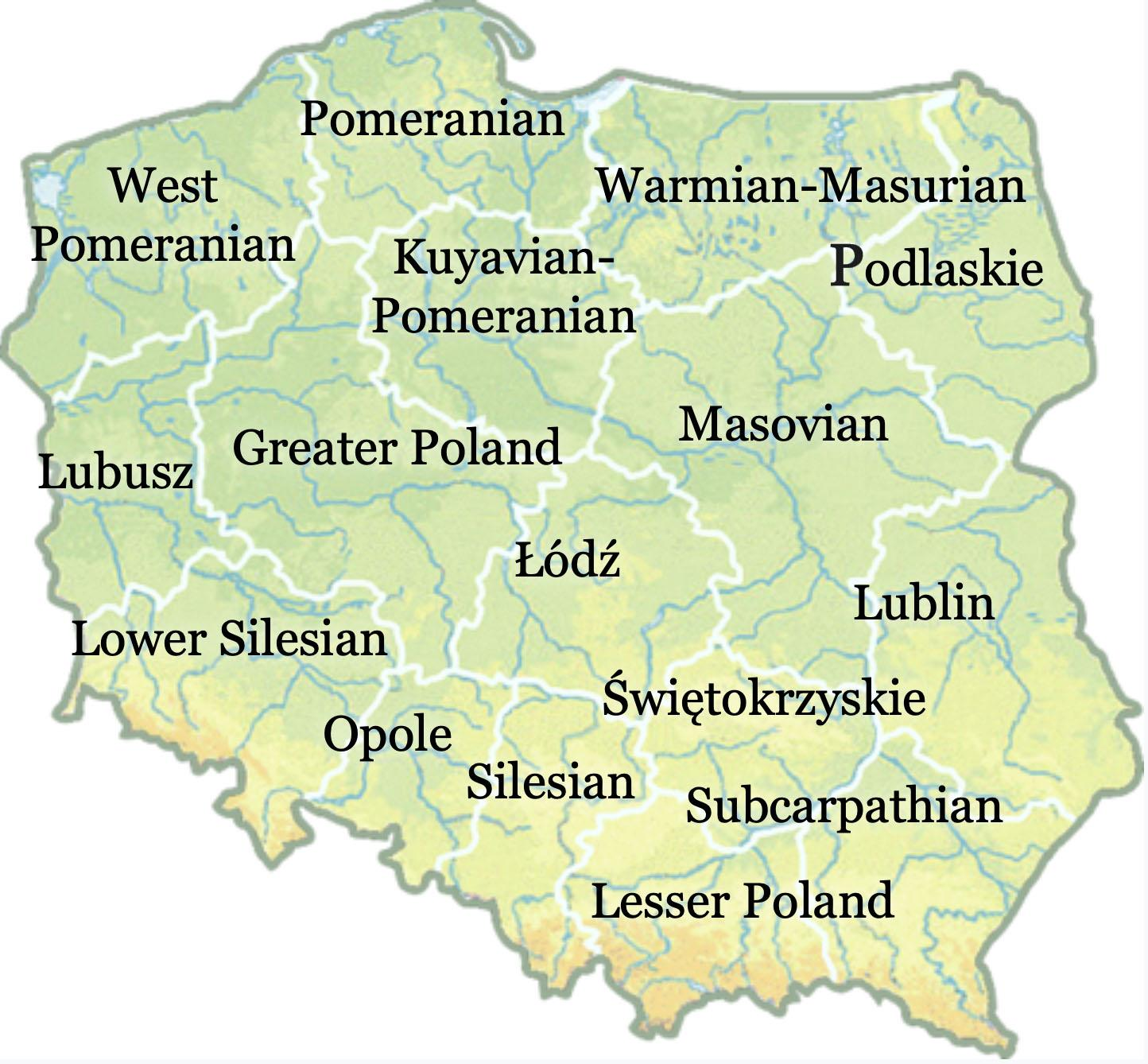 All Over The Map A Quick Tour Of Poland S Voivodeships
