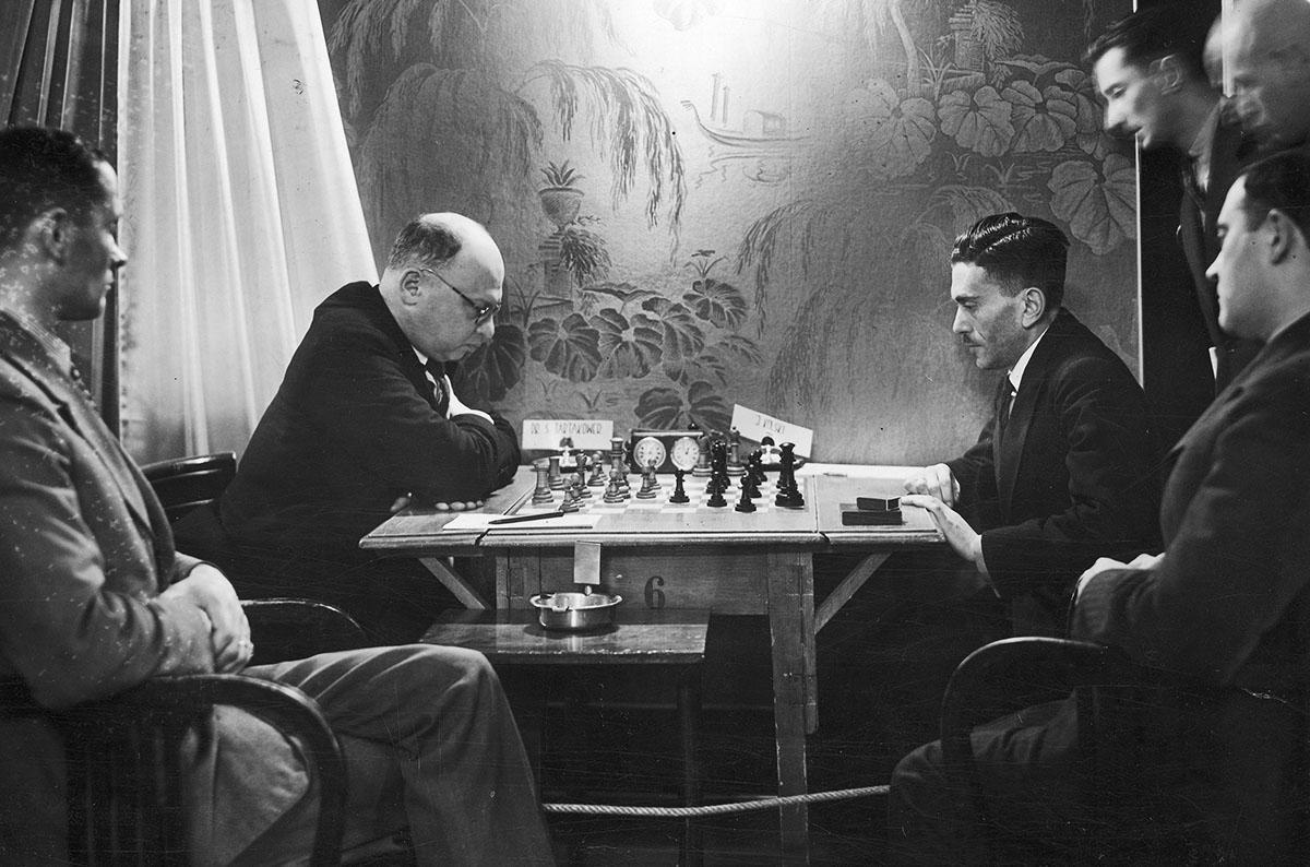 Чемпионат по шахматам в Варшаве, 1935, фото: audiovis.nac.gov.pl (NAC)